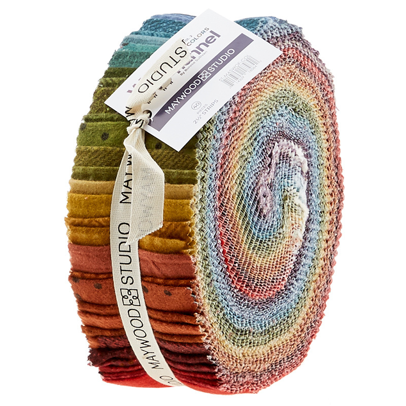 Woolies Flannel Jelly Roll - Vol. 2 Colours 56592