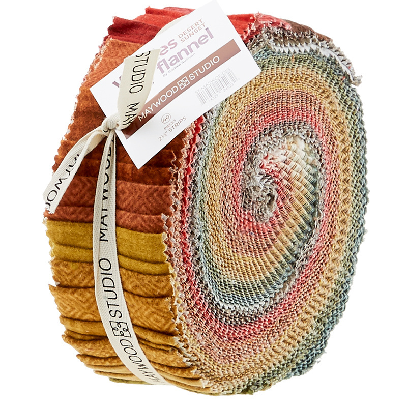 Woolies Flannel Jelly Roll - Desert Sunset 56593