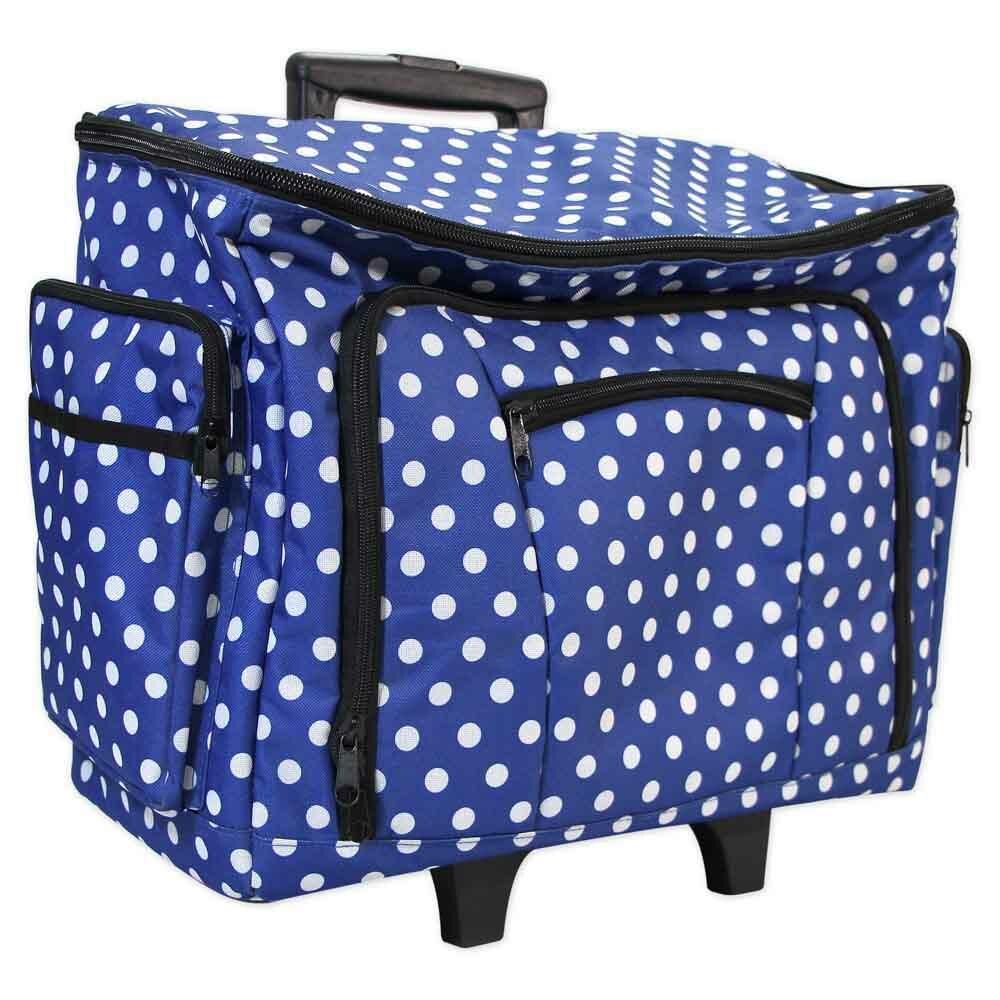 Machine Trolley - Blue Polka Dot 56617