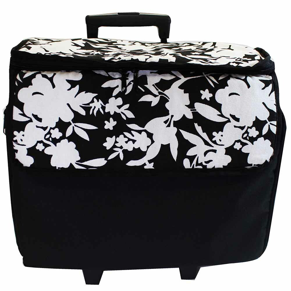 Machine Trolley - Black with White Flowers 56619