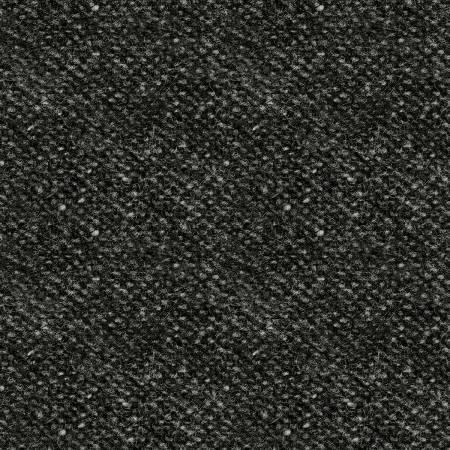 Woolies Flannel - Black with Grey Flecks - 1/2m cut 56639