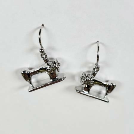 Sewing Machine Earrings - Silver 56644