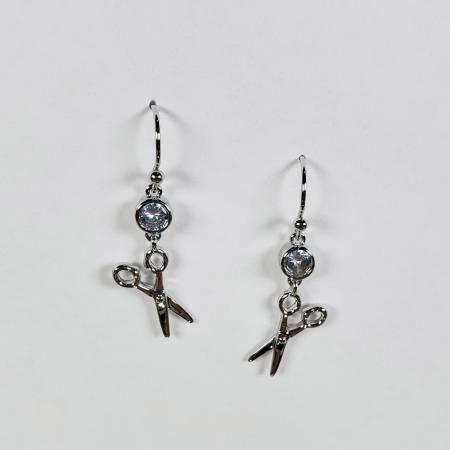 Scissors Earrings - Silver 56646