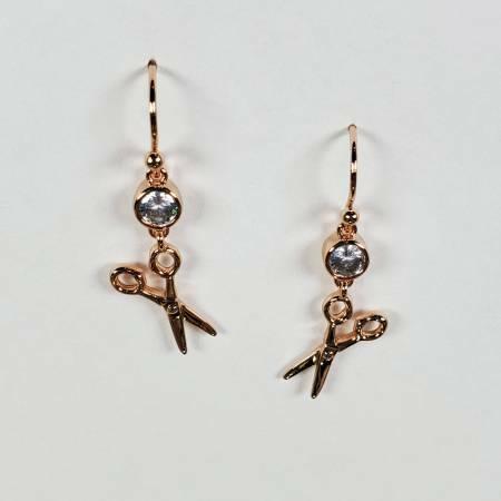 Scissors Earrings - Rose Gold 56645