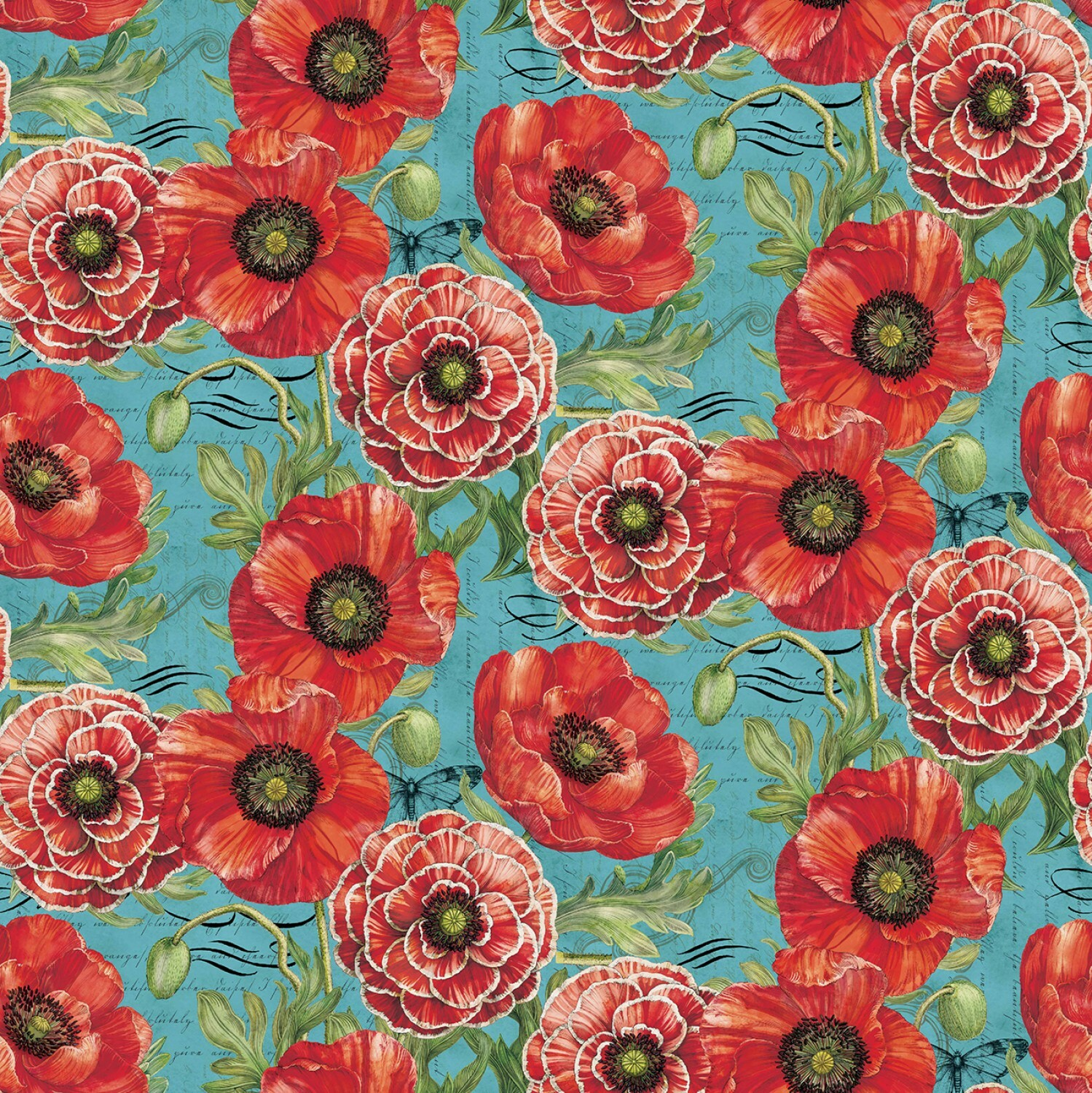 Poppies - 1/2m cut 56648