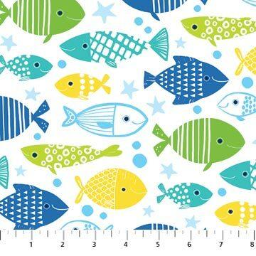 Go Fish - White Fish - 1/2m cut 56690