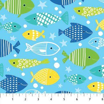 Go Fish - Light Blue Fish - 1/2m cut 56691