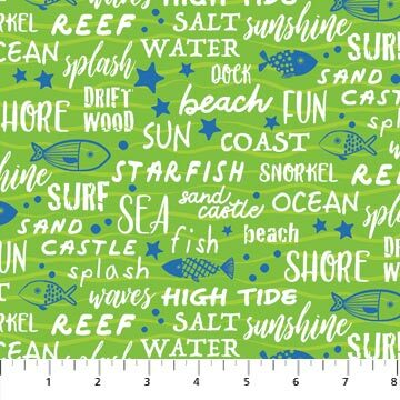 Go Fish - Green Words - 1/2m cut 56698