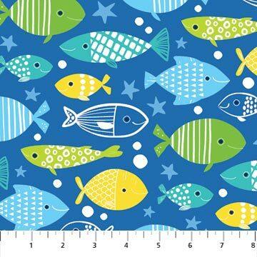 Go Fish - Royal Blue Fish - 1/2m cut 56692