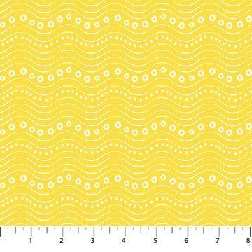 Go Fish - Yellow Waves - 1/2m cut 56699