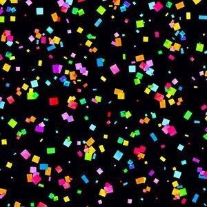 Cue the Confetti - Confetti on Black - 1/2m cut 56720