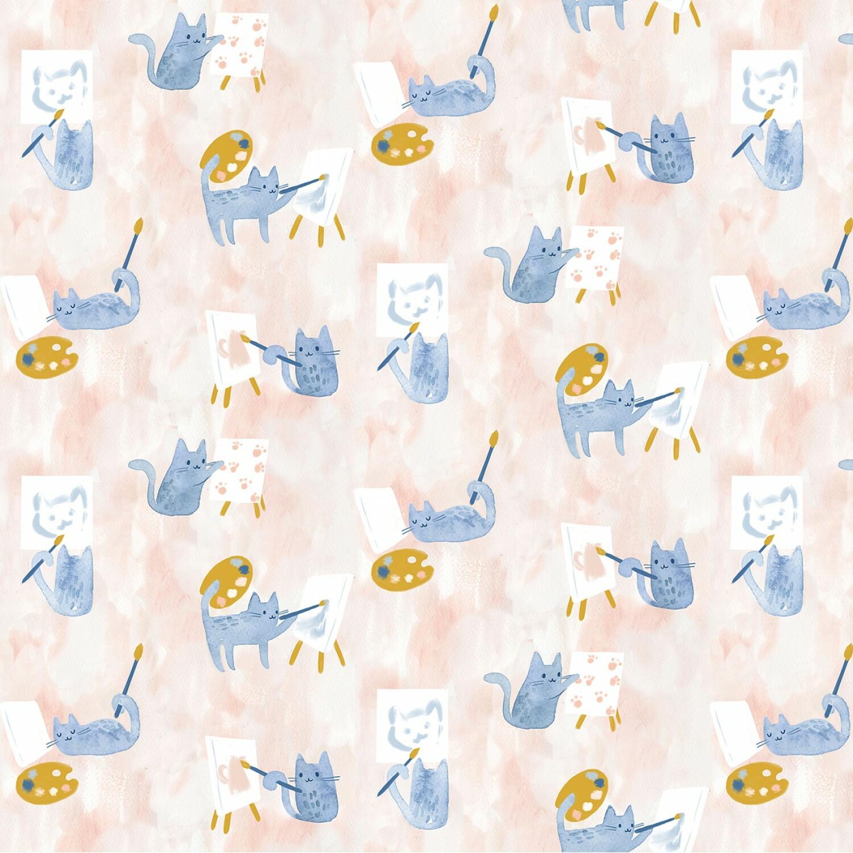 Creative Cats - 1/2m cut 56714