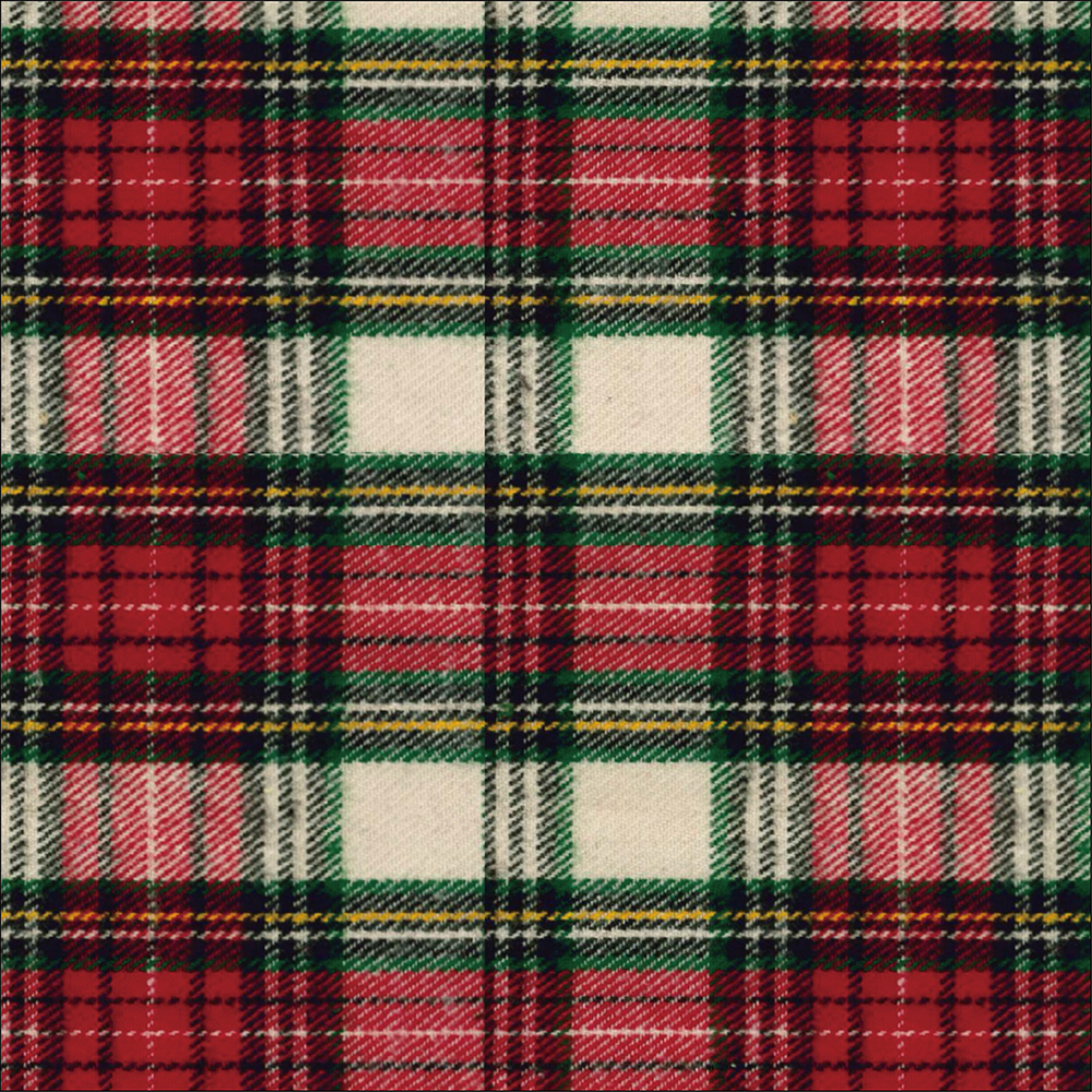 Yarn Dyed Flannel - Red and Green Plaid - 1/2m cut 56726