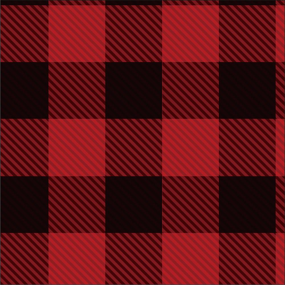 Yarn Dyed Flannel - Red Buffalo Plaid - 1/2m cut 56724