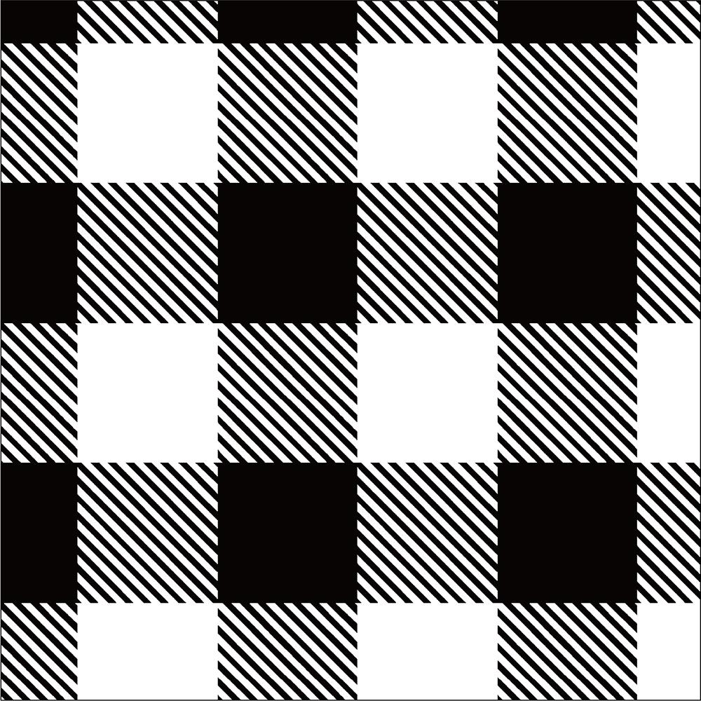 Yarn Dyed Flannel - Black Buffalo Plaid - 1/2m cut 56727