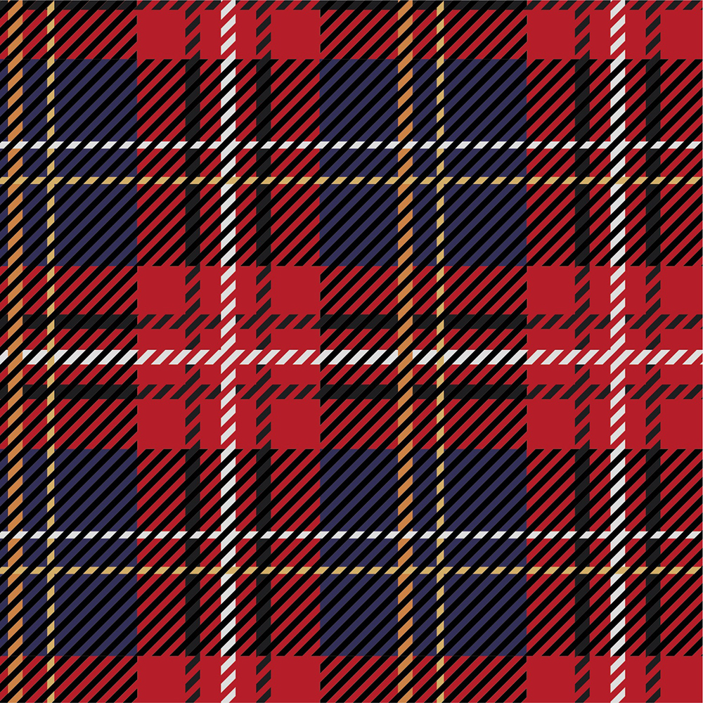 Yarn Dyed Flannel - Red and Blue Plaid - 1/2m cut 56725