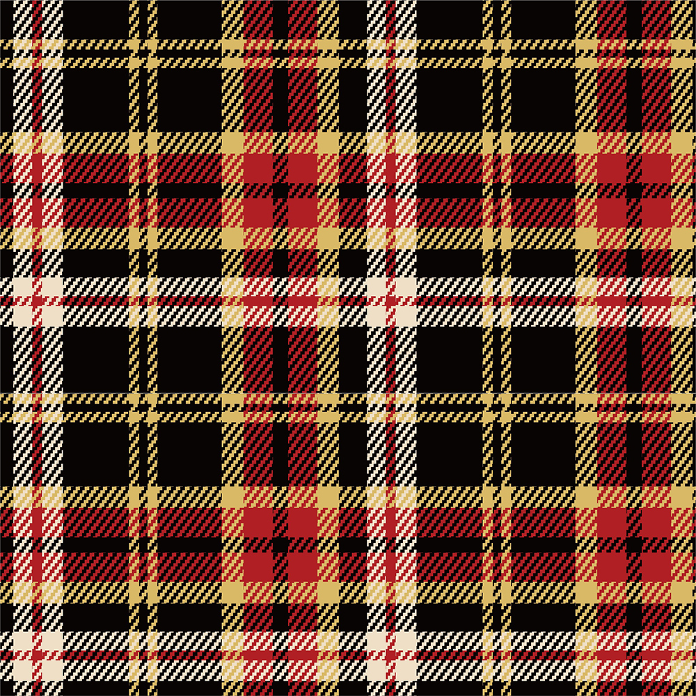 Yarn Dyed Flannel - Black and Yellow Plaid - 1/2m cut 56722