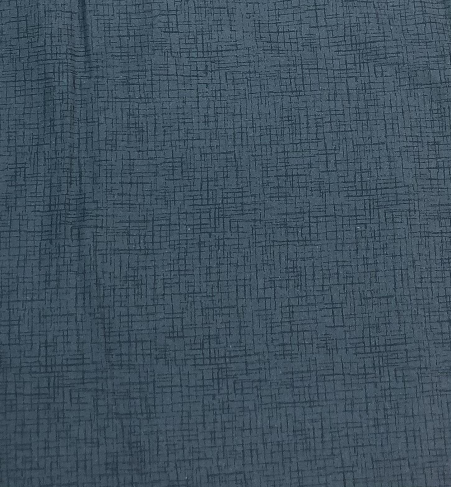 """Flannel 108"""" - Cadet Blue Cross Hatch - 1/2m cut 56732"""