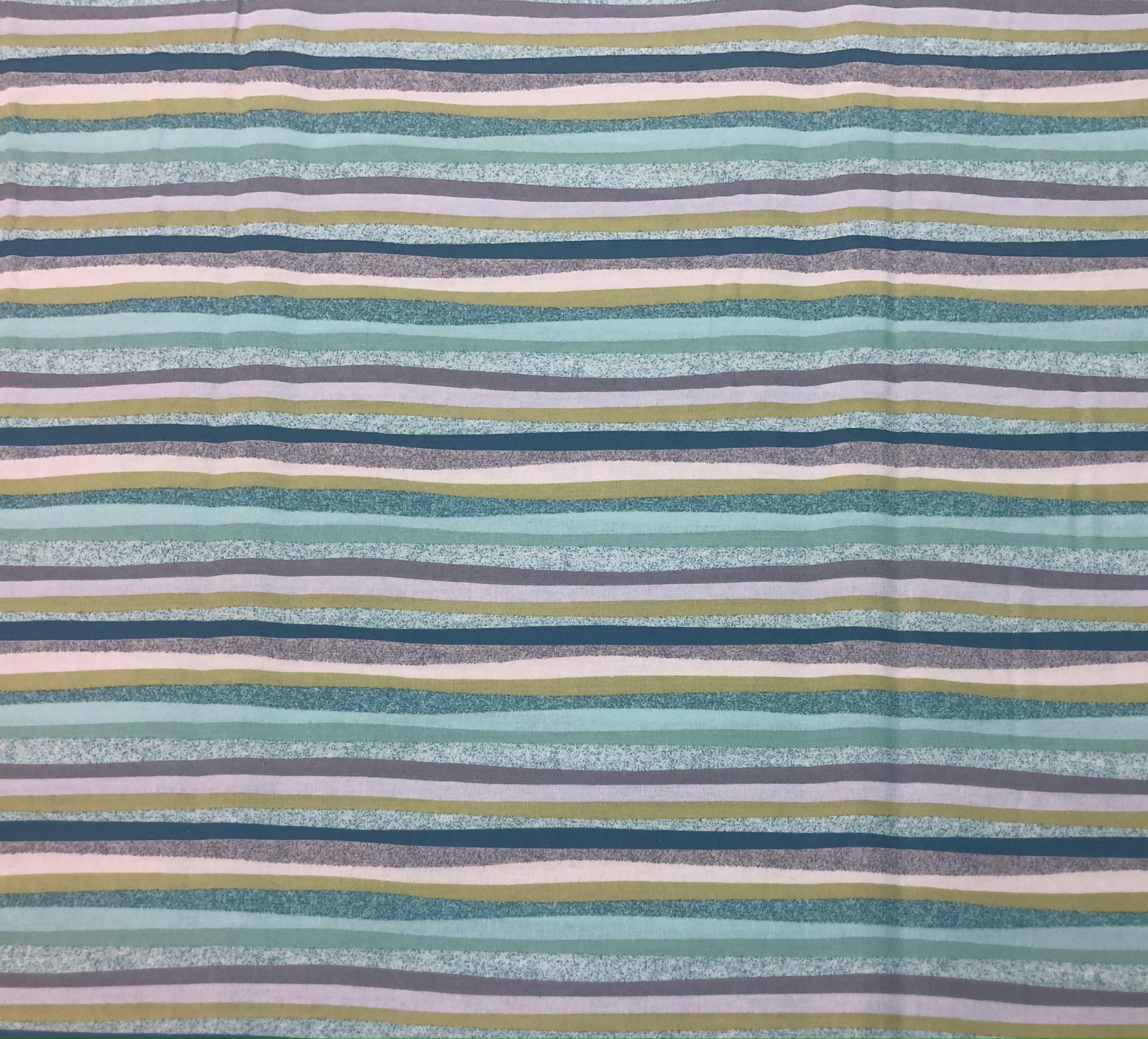 Aqua Stripe - 1/2m cut 56740