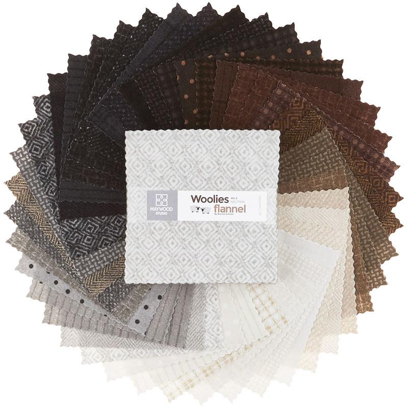Woolies Flannel Charm Pack - Vol. 2 Neutrals 56741