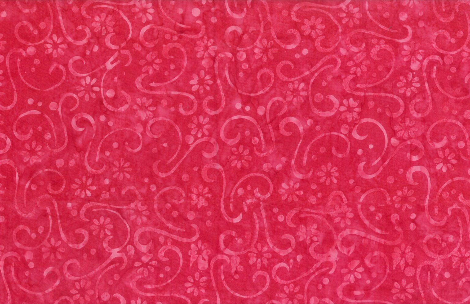 Red - Spring Dawn - Batik - 1/2m cut 56761