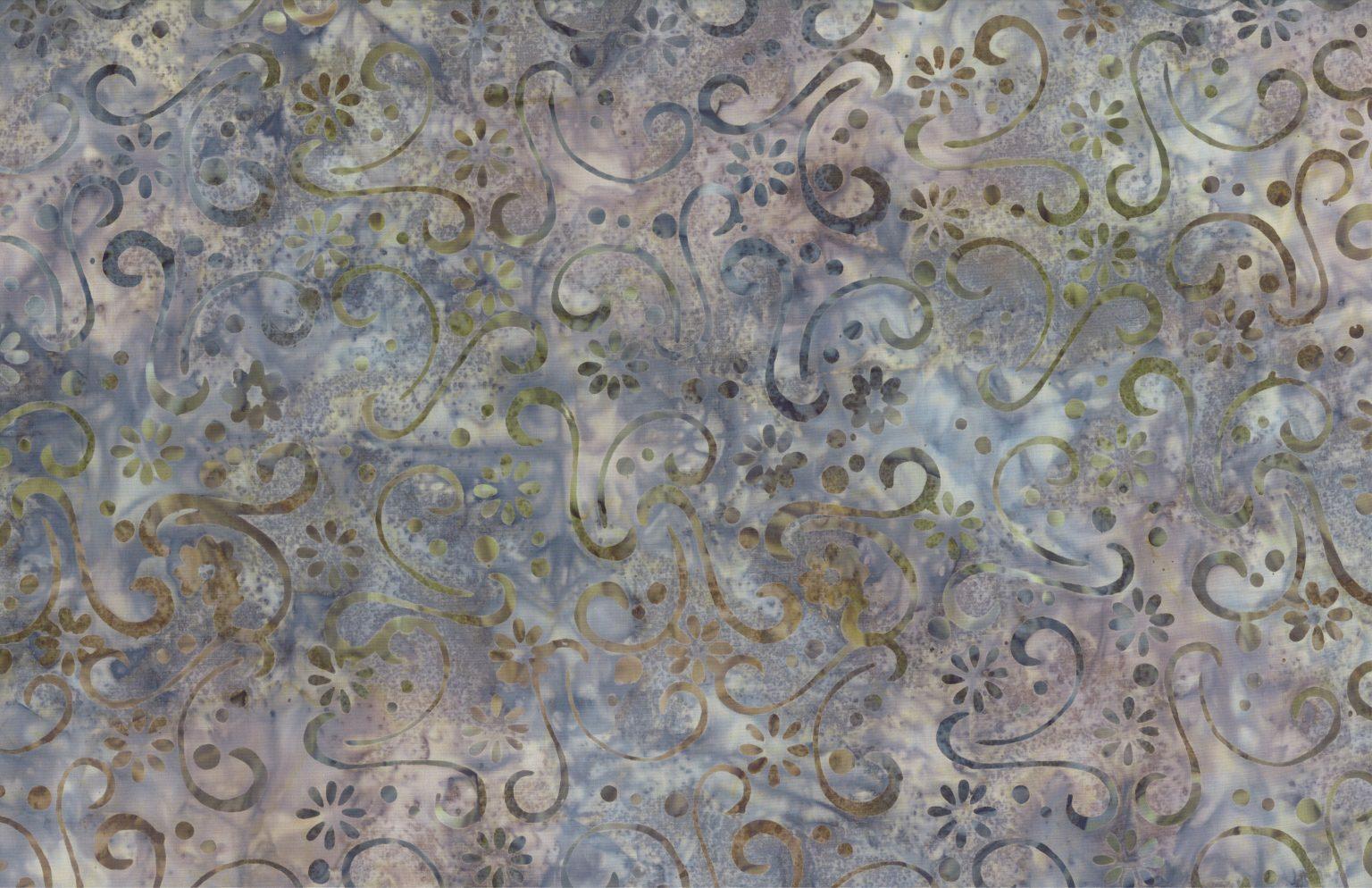 Grey - Spring Dawn - Batik - 1/2m cut 56763