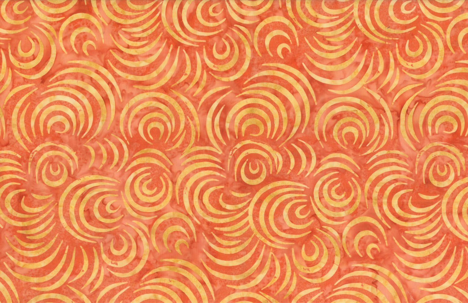 Orange - Spring Dawn - Batik - 1/2m cut 56764