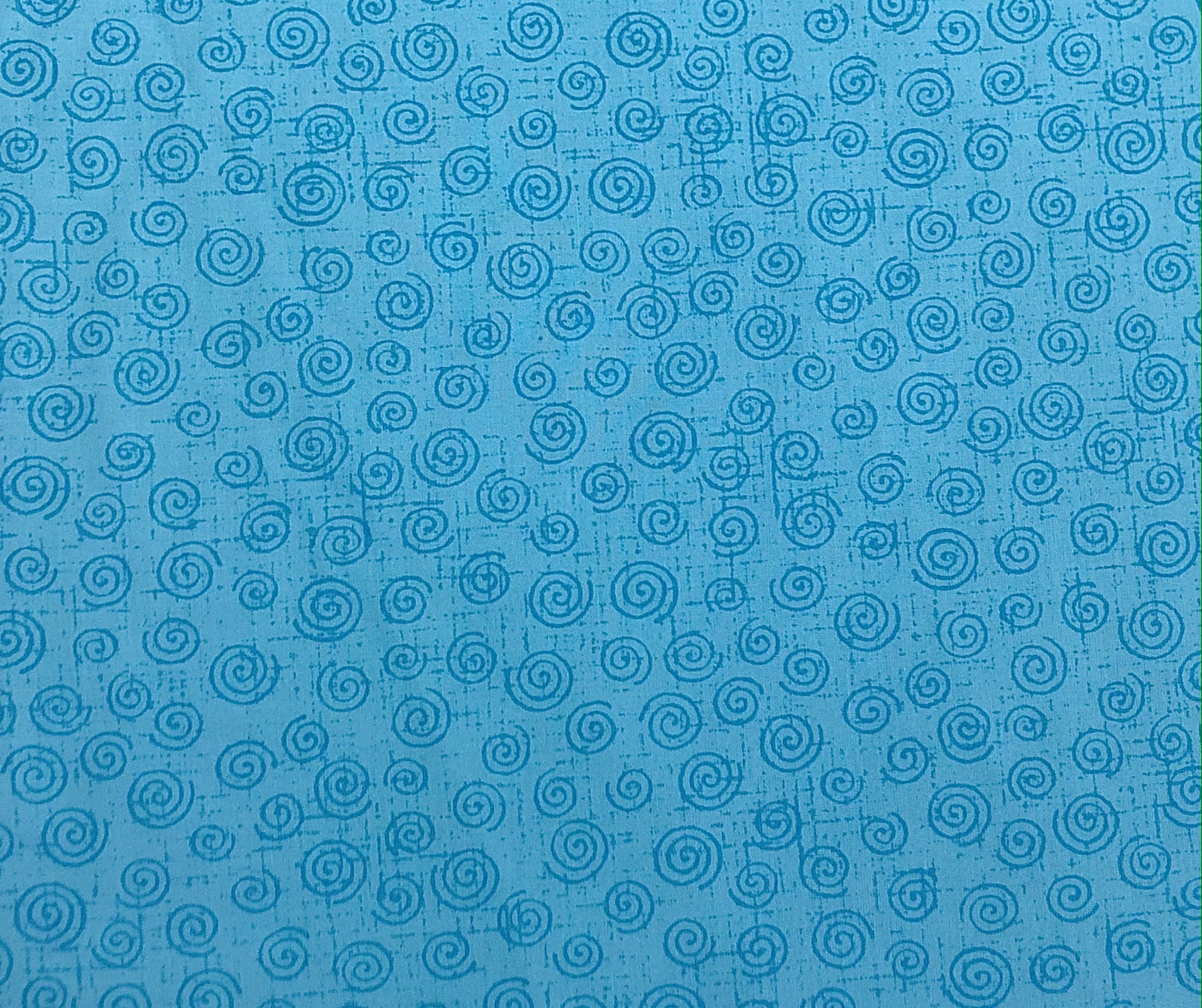 "Cotton 108"" - Aqua Swirls - 1/2m cut 56789"