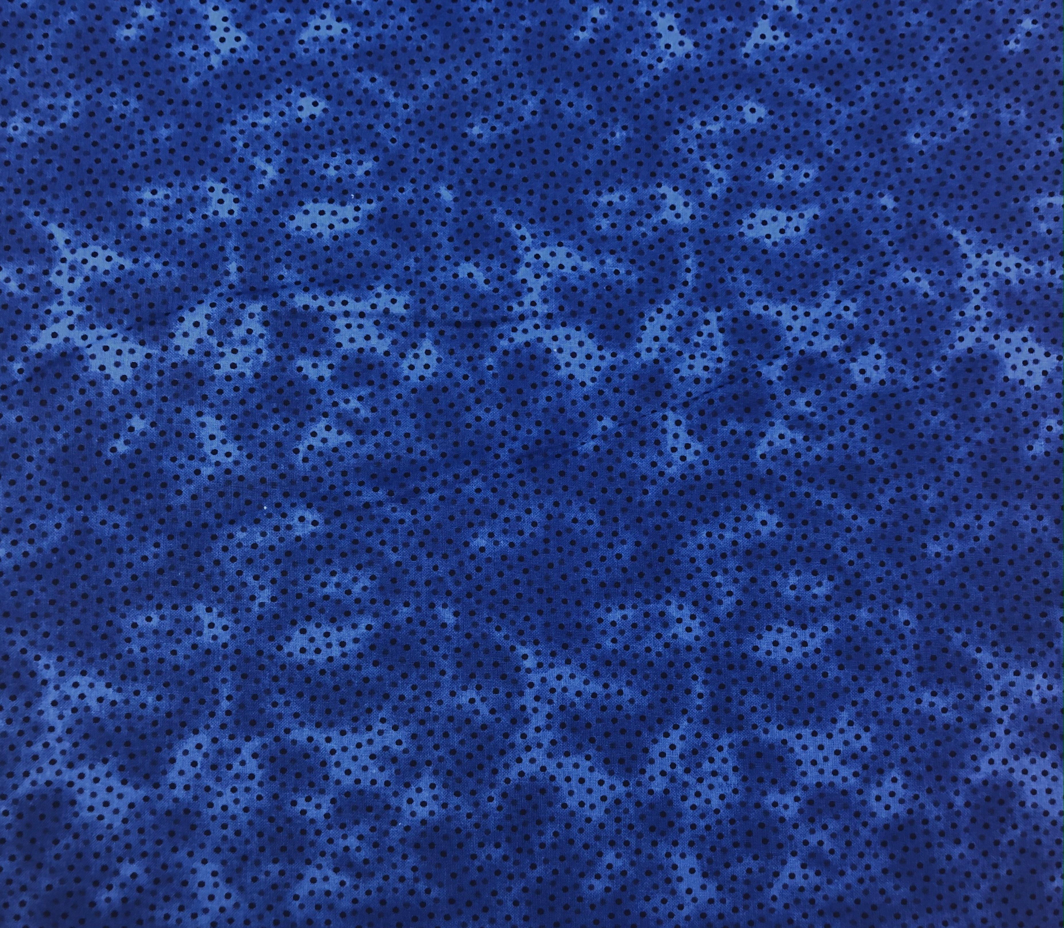 """Cotton 108"""" - Royal Blue Dots - 1/2m cut 56791"""