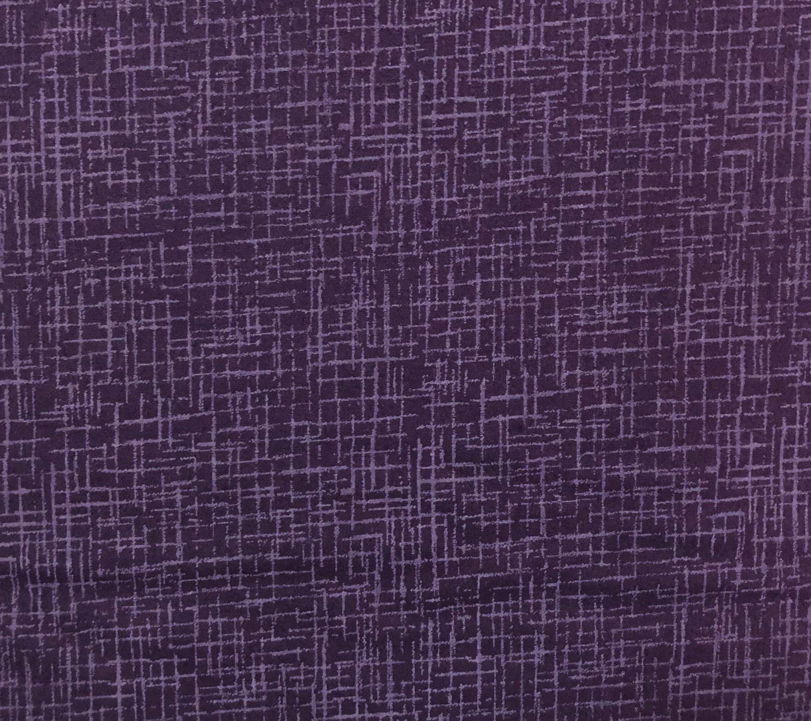 "Flannel 108"" - Eggplant Cross Hatch - 1/2m cut 56794"