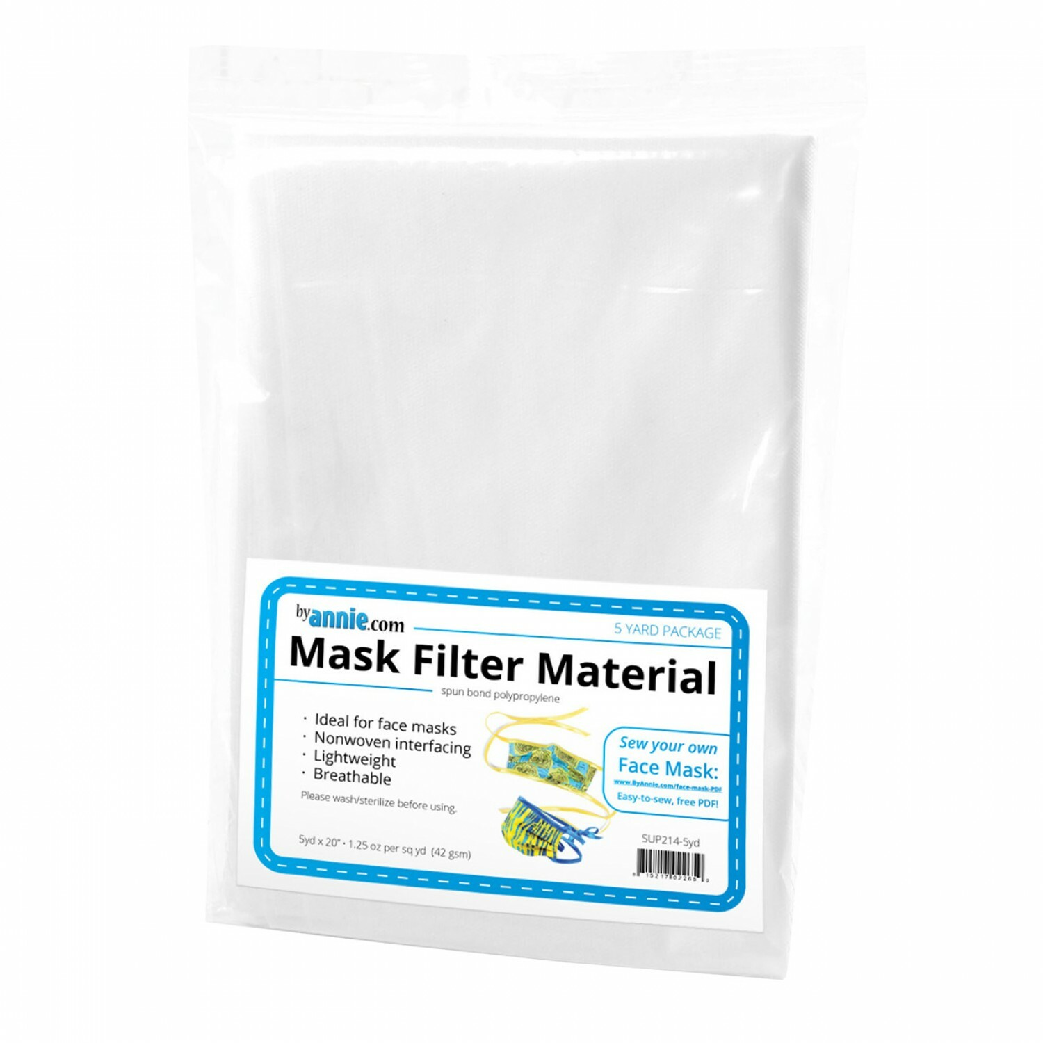 """Mask Filter Material - 20"""" x 5 yards 56821"""