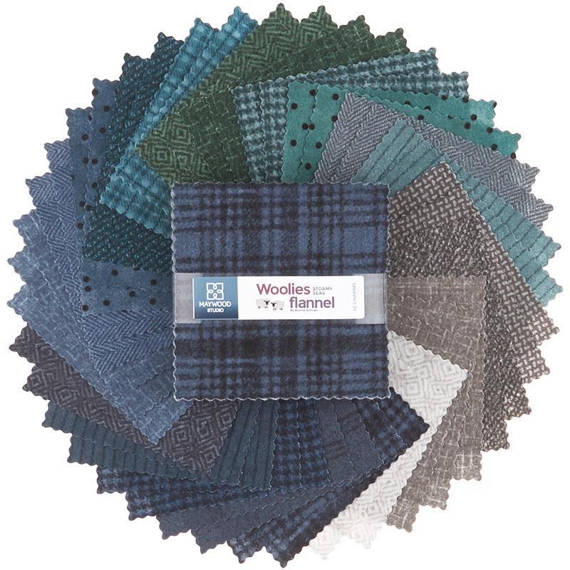 Woolies Flannel Charm Pack - Stormy Seas 56855