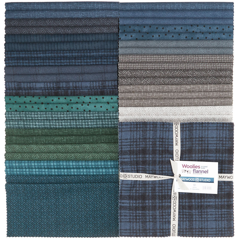 Woolies Flannel Layer Cake - Stormy Seas 56857