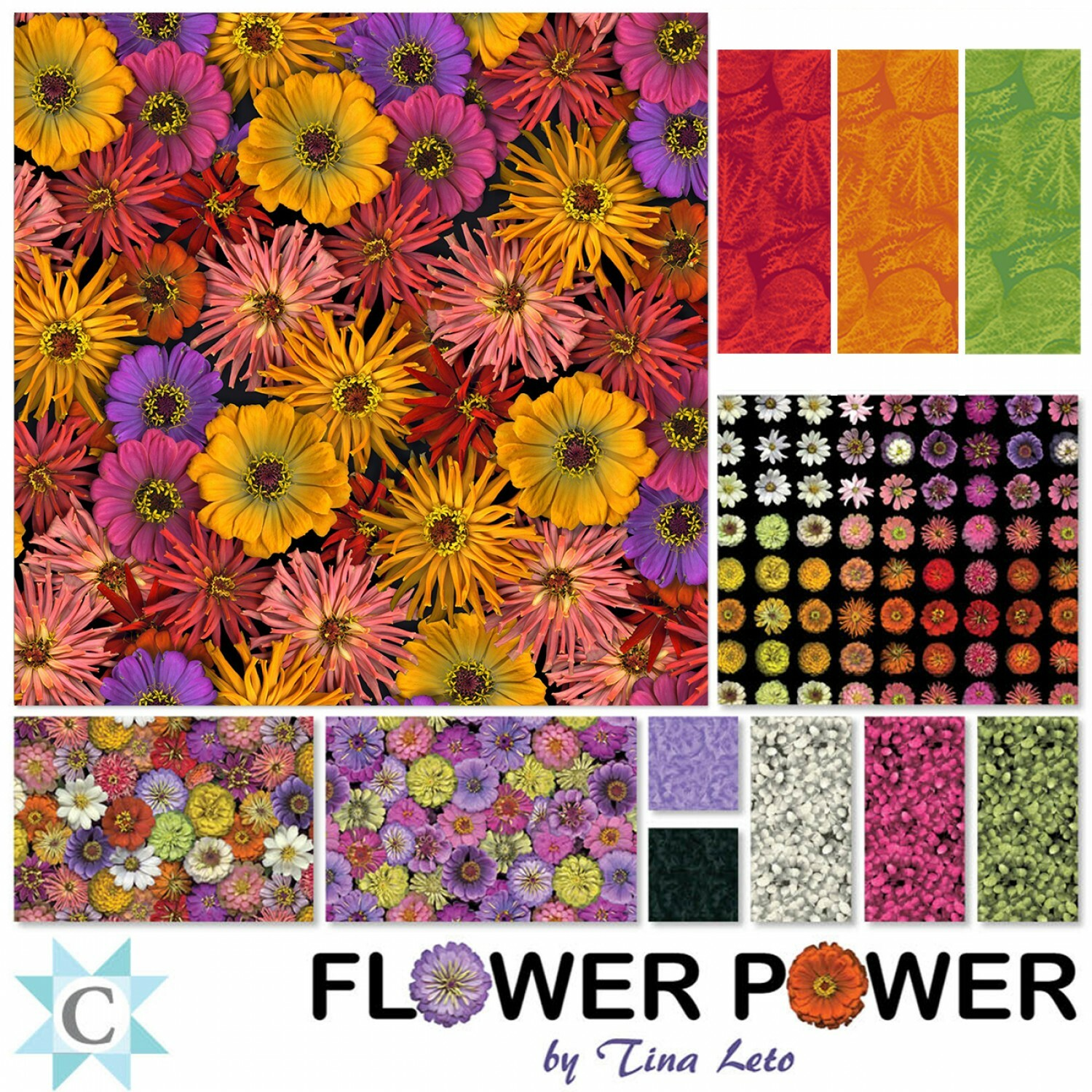 Flower Power Charm Pack 56872