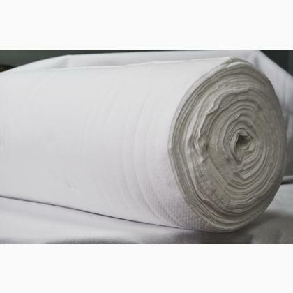 """Bleached 100% Cotton Batting - 120"""" wide - 1/2m cut 56889"""