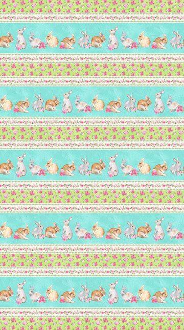 Bunny Love - Border Print - 1/2m cut 56920