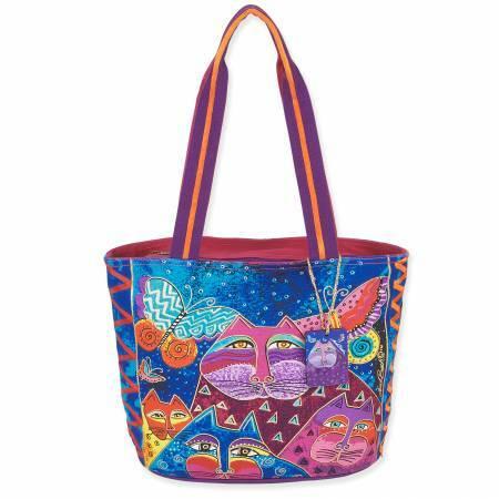 Laurel Burch Bag - Cats with Butterflies 56940