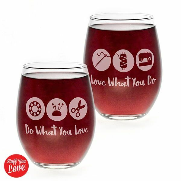 Do What You Love Stemless Wine Glass 56955