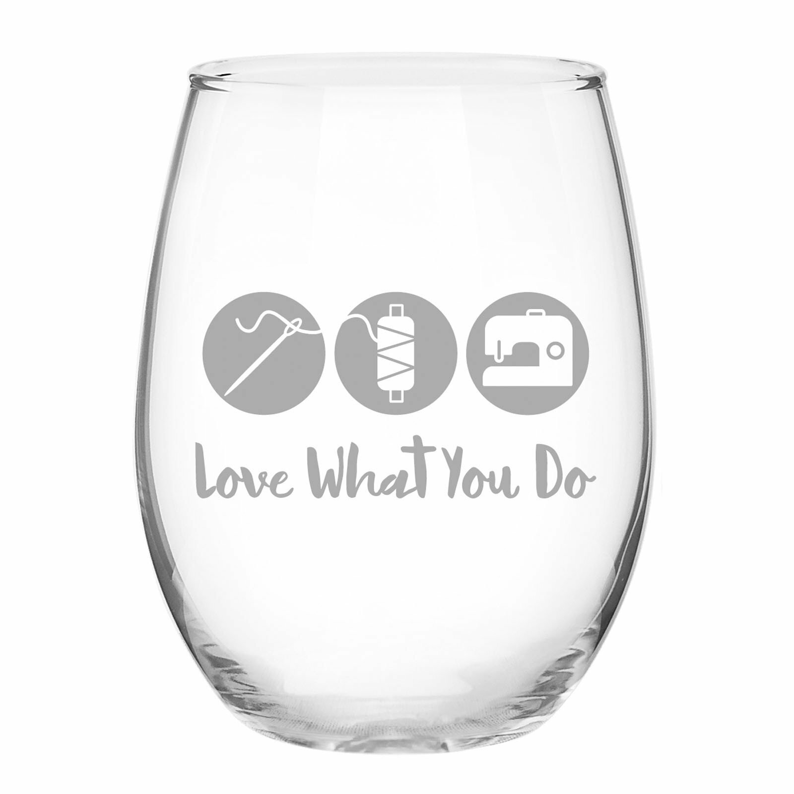 Do What You Love Stemless Wine Glass