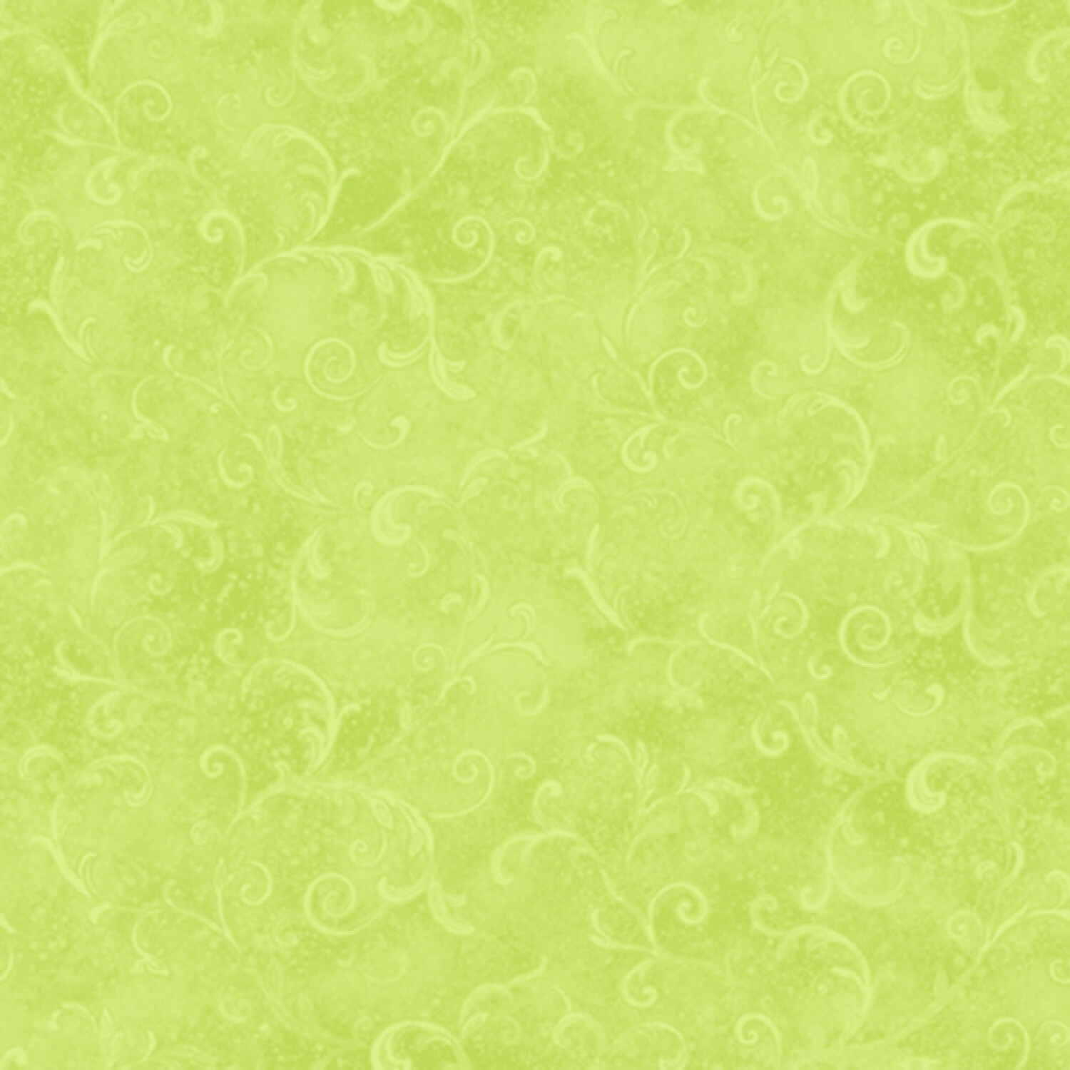 Lime Green Filigree - Wilmington Fabrics - 1/2m cut 56991