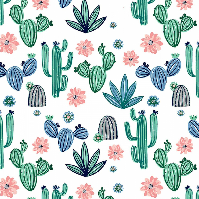 """Cactus MINKY FABRIC - 60"""" wide - 1/2m cut 57026"""
