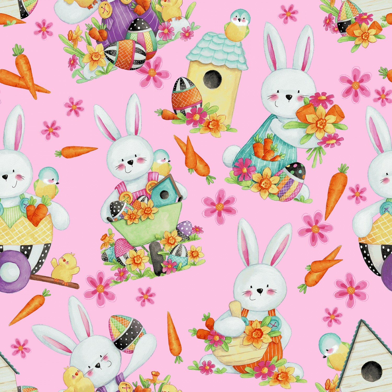 Pink Bunnies - Easter Fun - 1/2m cut 57045