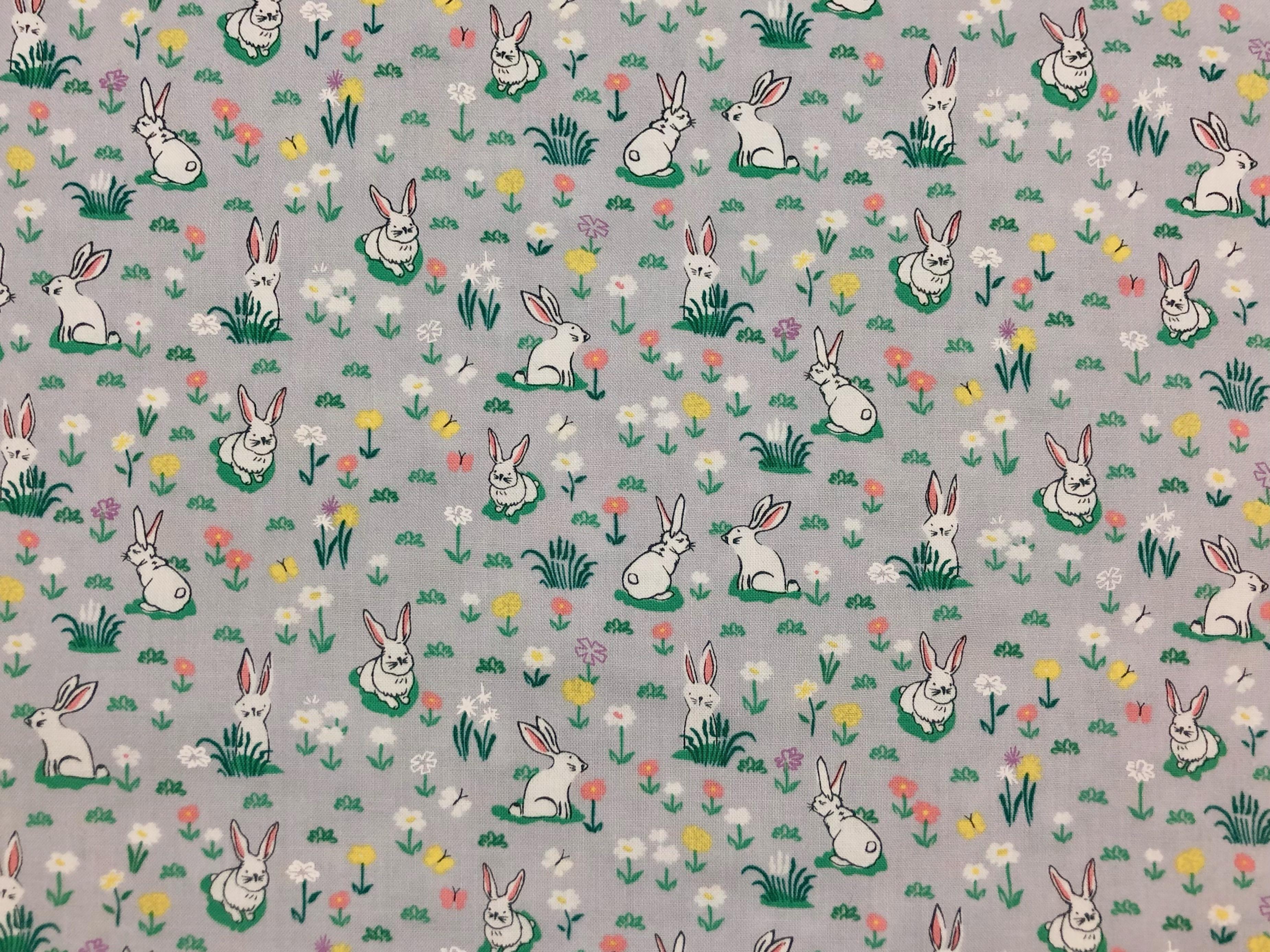 Vintage Bunnies - 1/2m cut 57058