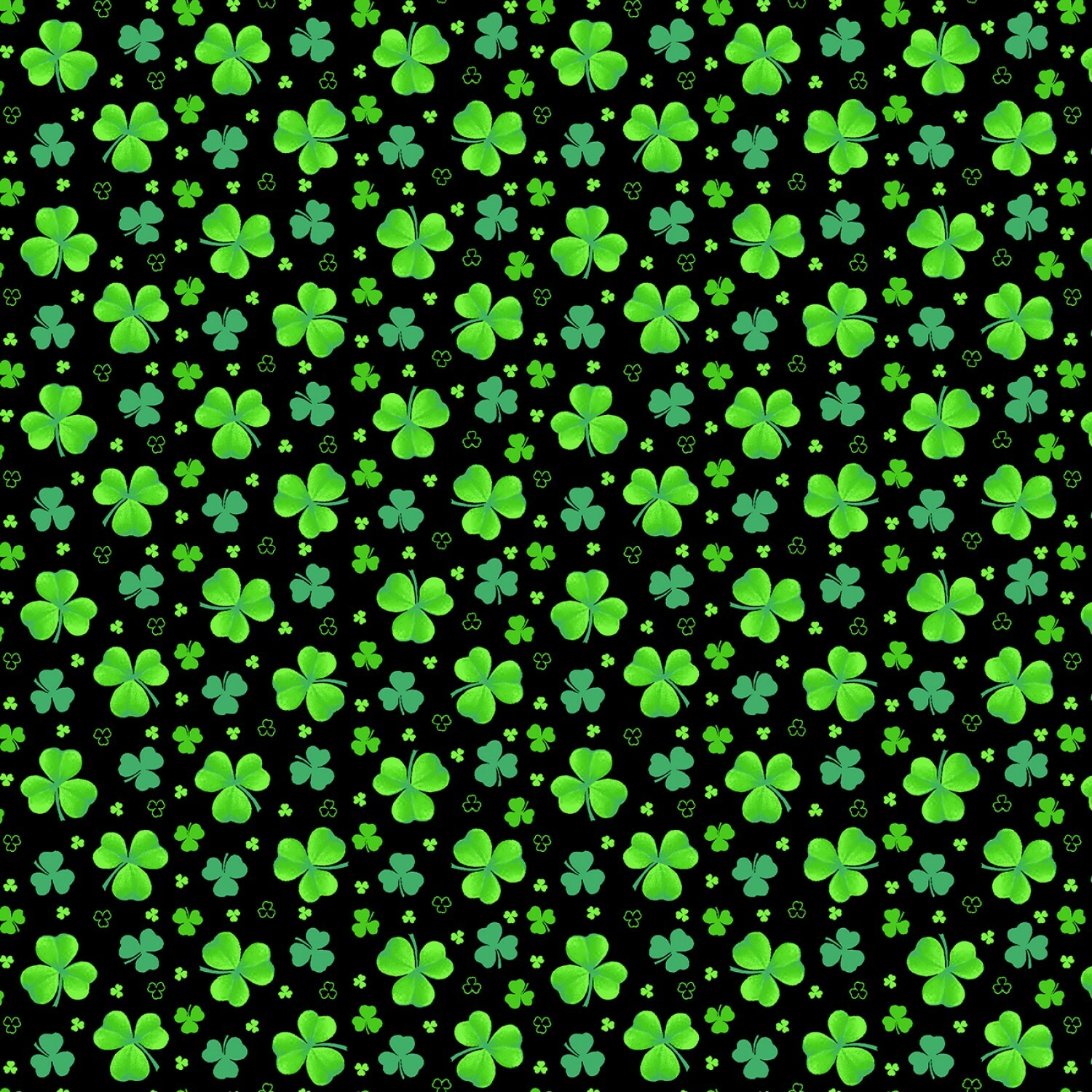 Shamrocks - Pot of Gold - 1/2m Cut 57048