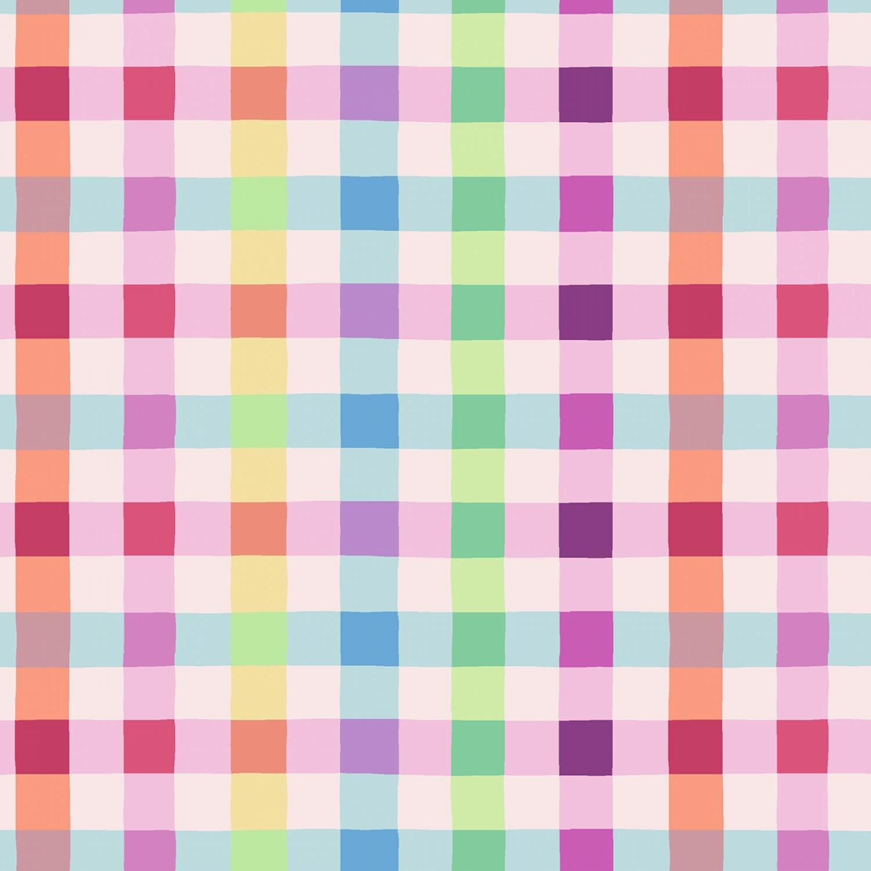 Coloured Checks - Easter Fun - 1/2m cut 57043