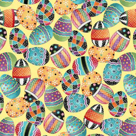 Painted Eggs - Easter Fun - 1/2m cut 57046