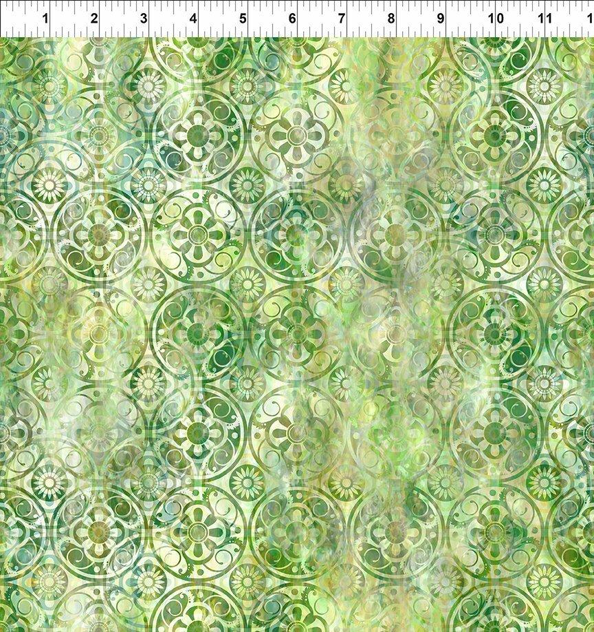 Florigraphix V - Green Medallions (9-1) - 1/2m cut 57083