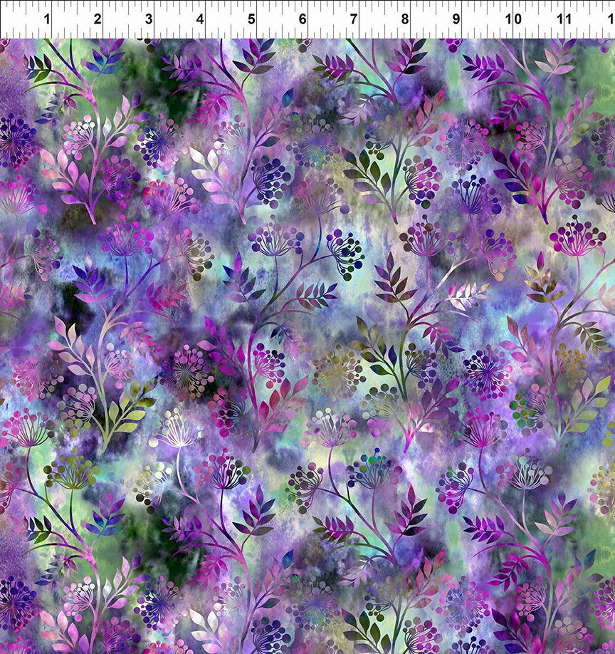 Florigraphix V - Purple Sprigs (6-4) - 1/2m cut 57076