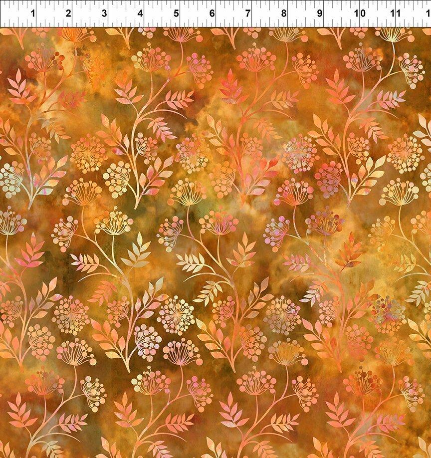 Florigraphix V - Orange Sprigs (6-2) - 1/2m cut 57074