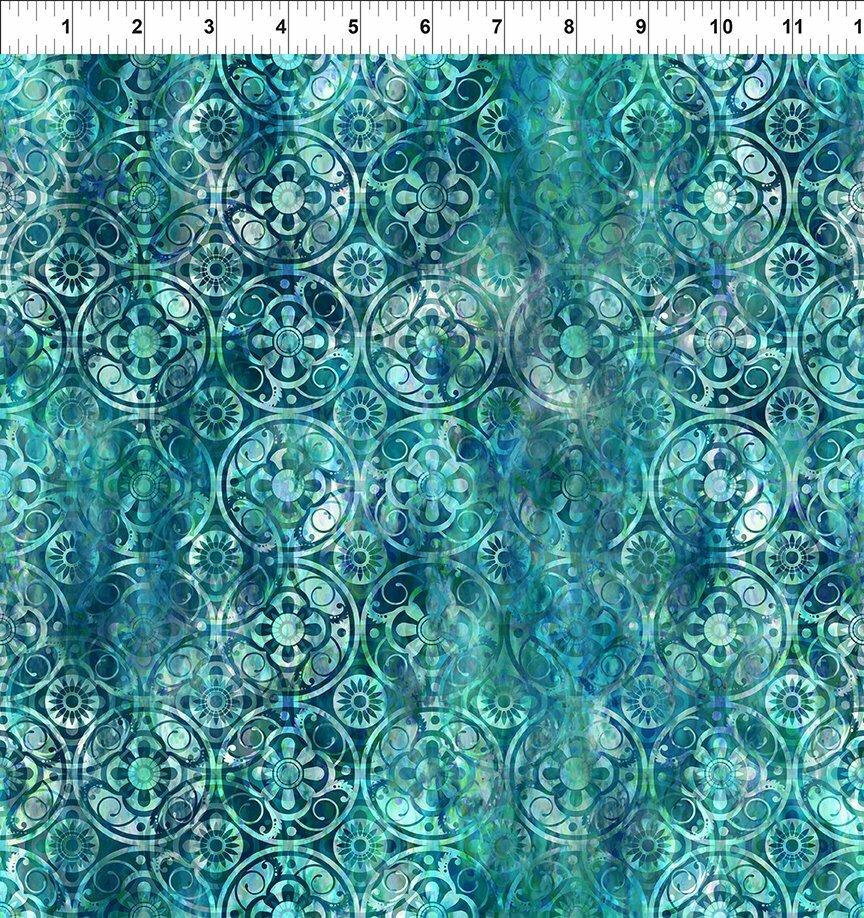 Florigraphix V - Blue Medallions (9-2) - 1/2m cut 57084